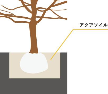間伐材とアクアソイル工法を使った駐車場「森の駐車場」のしくみ